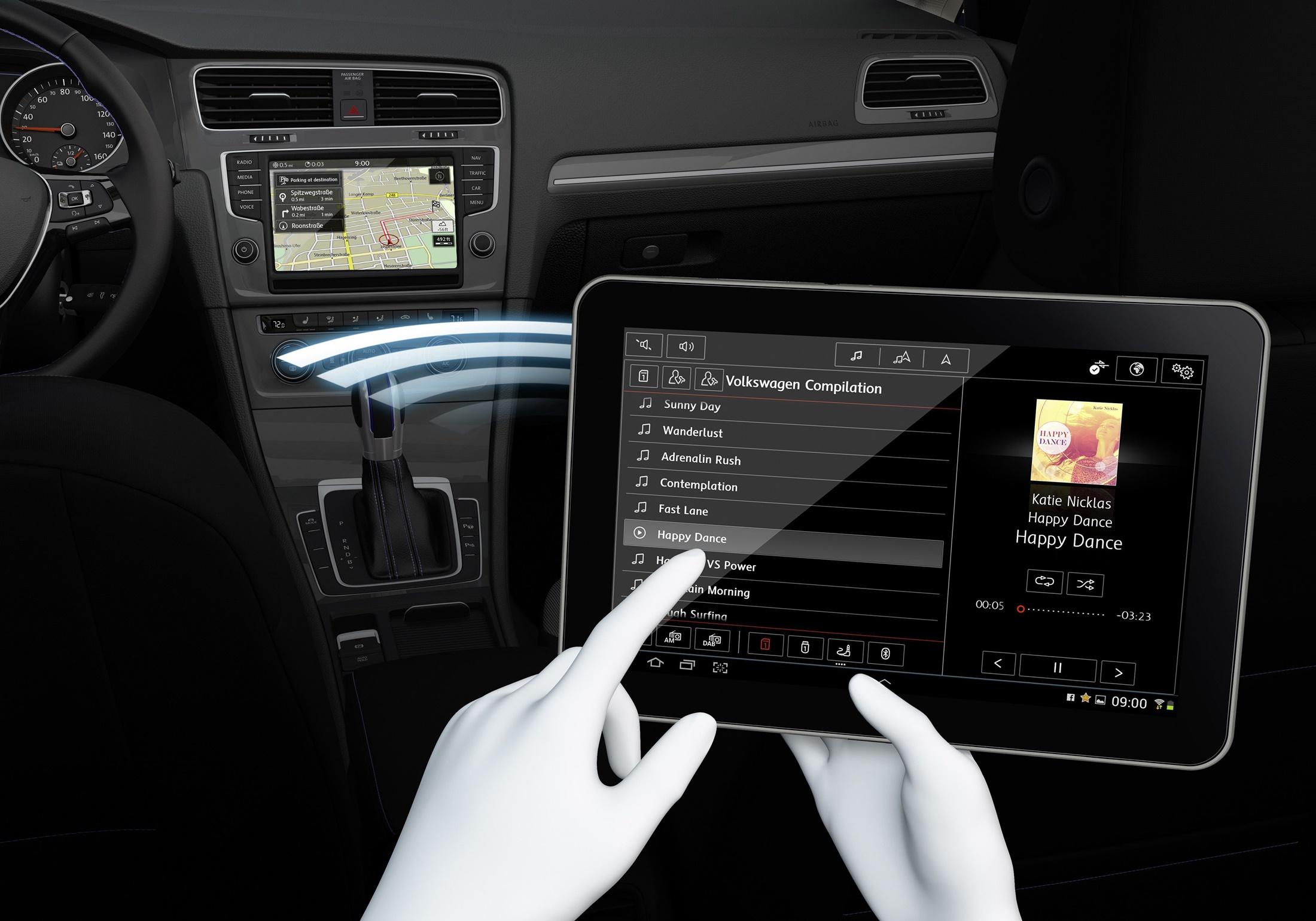 Imagem de Novo sistema de infotainment da VW permite que passageiros troquem a música no tecmundo