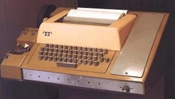 Uma máquina de escrever