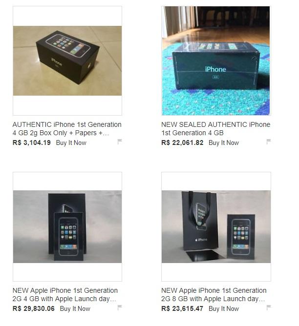 Várias fotos de iPhones