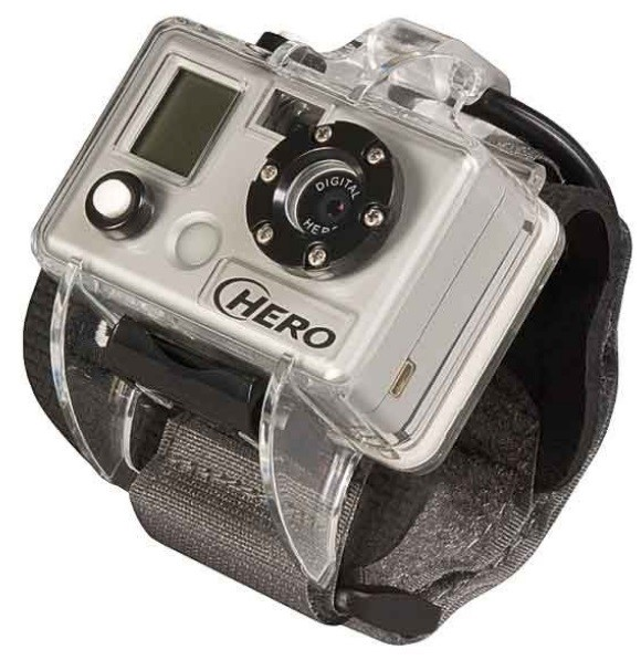 Uma GoPro.