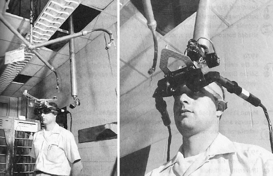 Um homem com um óculos de VR.