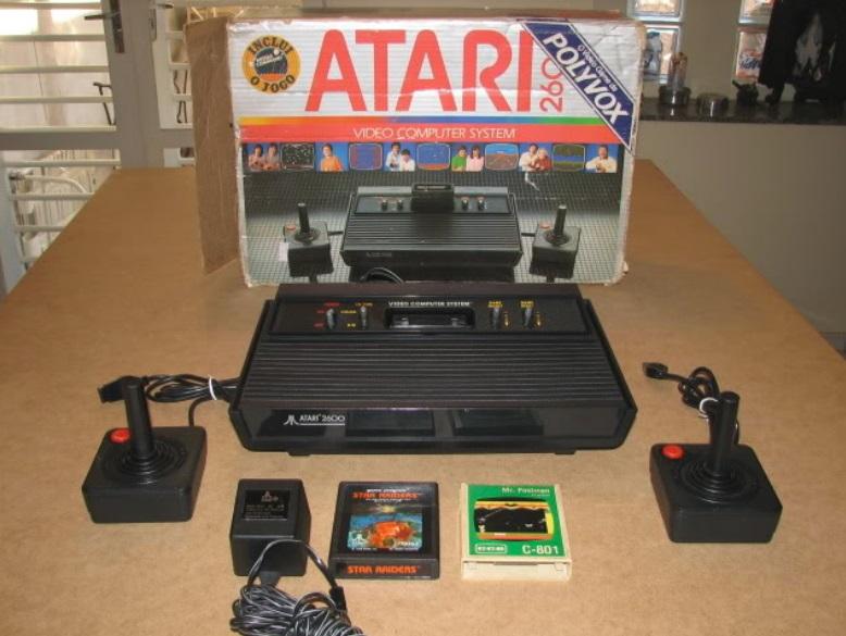 Uma caixa de Atari.