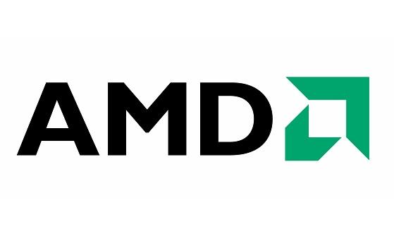 A logo da AMD.