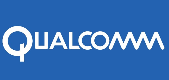 A logo da Qualcomm.