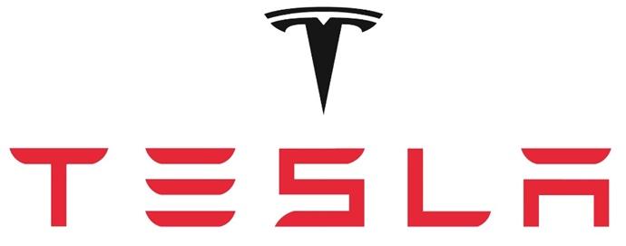 A logo da Tesla.