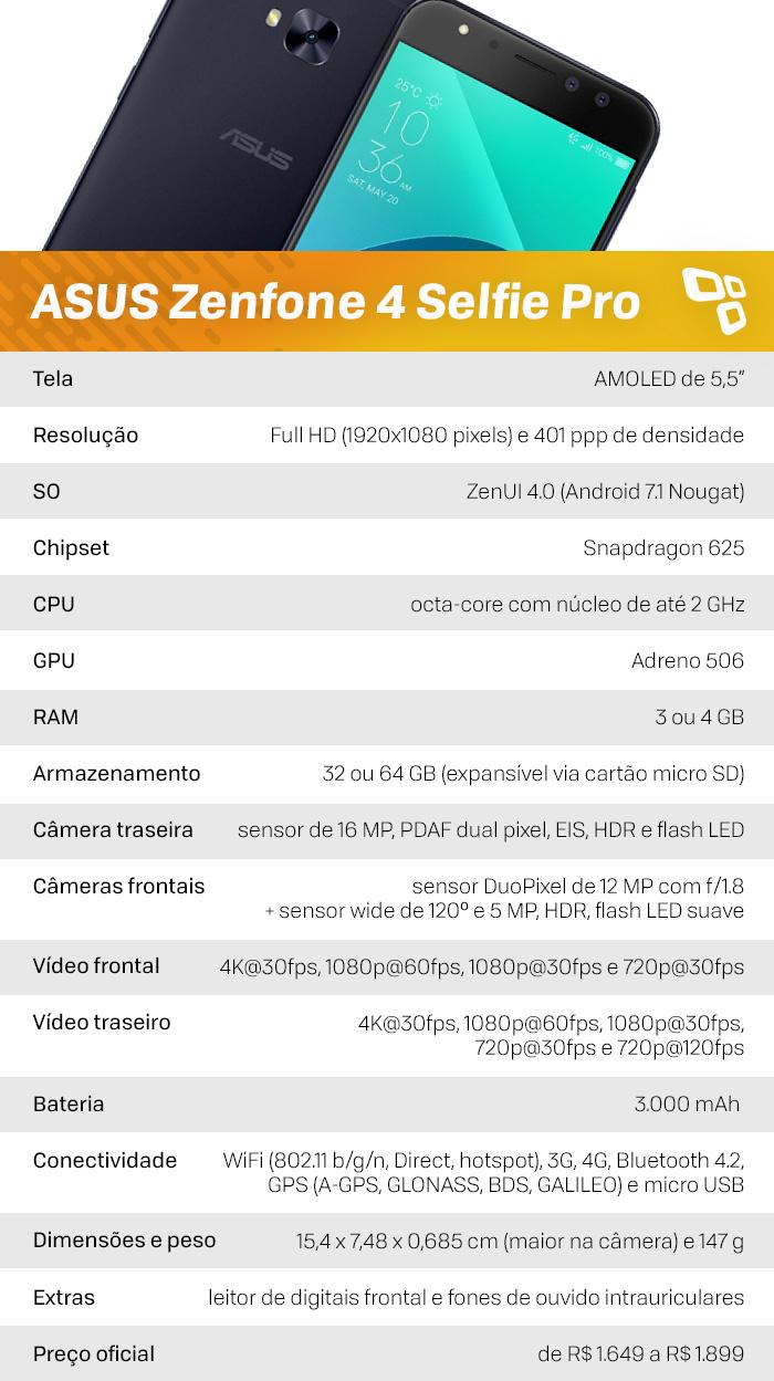 Specs Zenfone 4 Selfie Pro