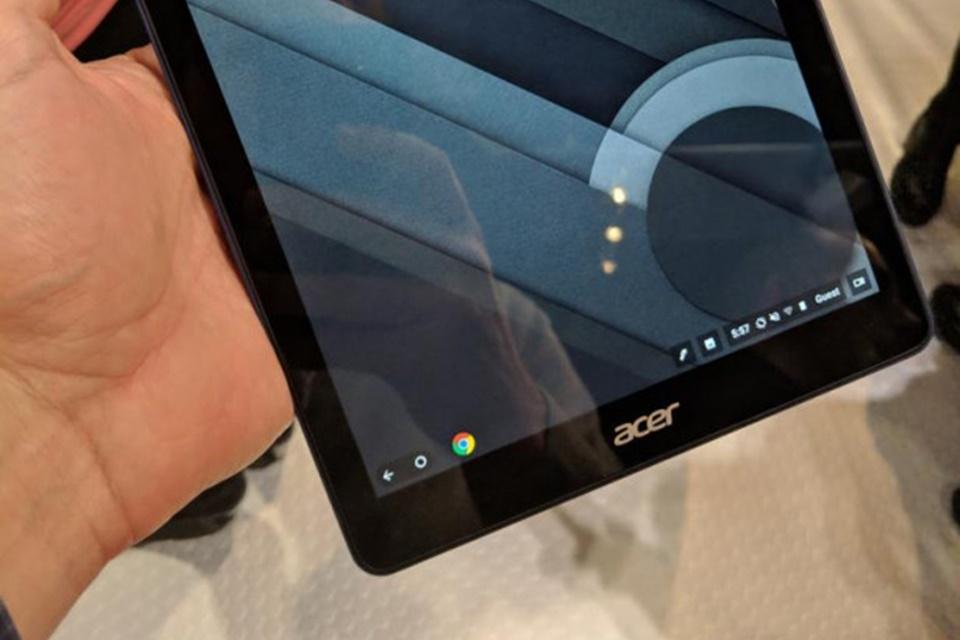 Imagem de Tablet da Acer rodando Chrome OS é visto em feira na Inglaterra no tecmundo