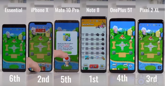 super mario run smartphone
