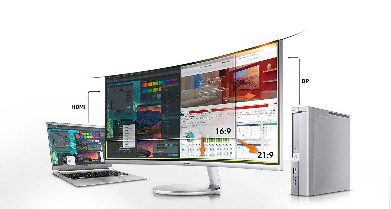 Monitor curvo Samsung branco