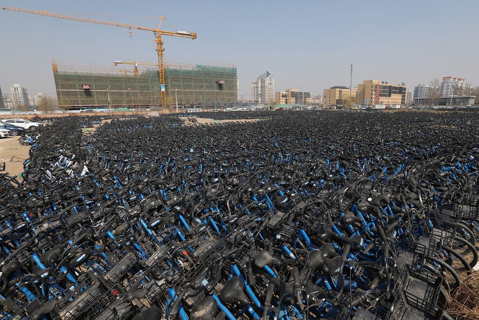 Imagem de O que acontece quando um serviço chinês de bicicletas compartilhadas acaba? no tecmundo