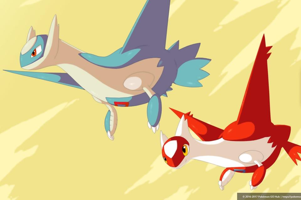 Imagem de Latias e Latios, pokémons lendários da 3ª geração, chegam hoje a Pokémon GO no tecmundo
