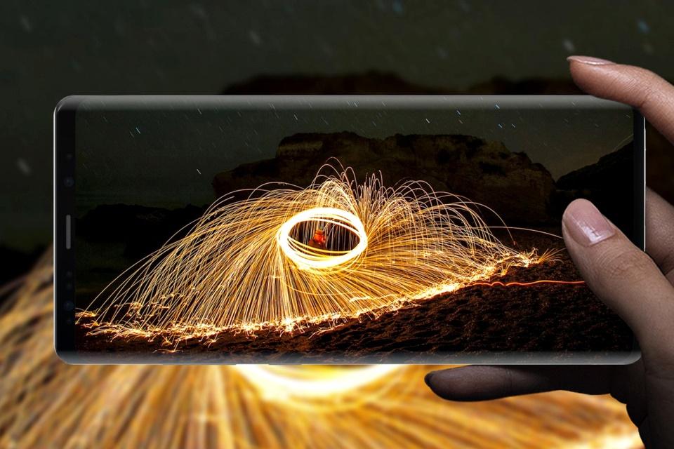 """Imagem de Arte conceitual projeta como seria o """"Galaxy Note 9 dos sonhos"""" no tecmundo"""