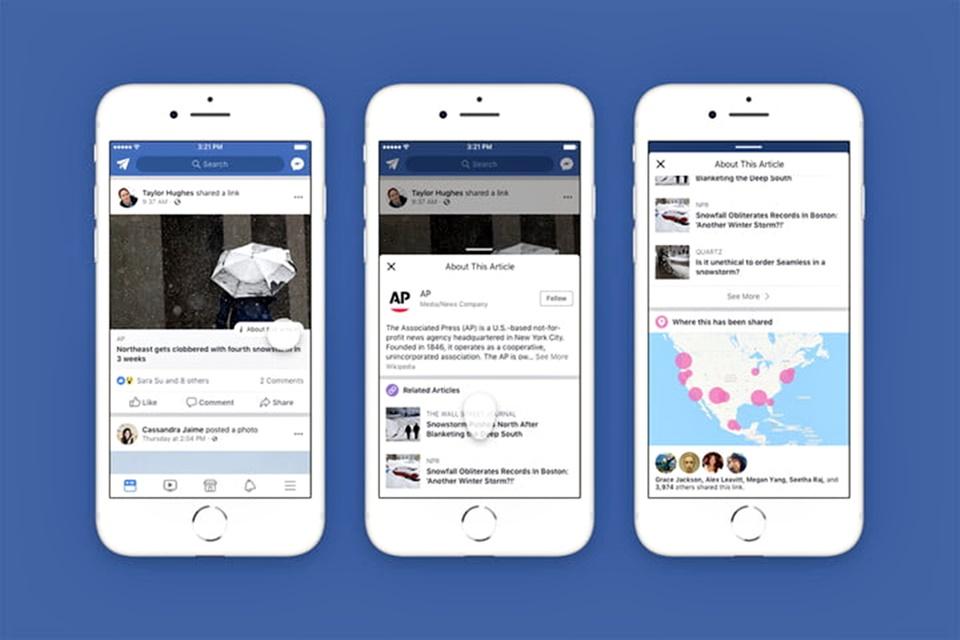 Imagem de Facebook usa a Wikipedia em nova ferramenta para checar fake news no tecmundo