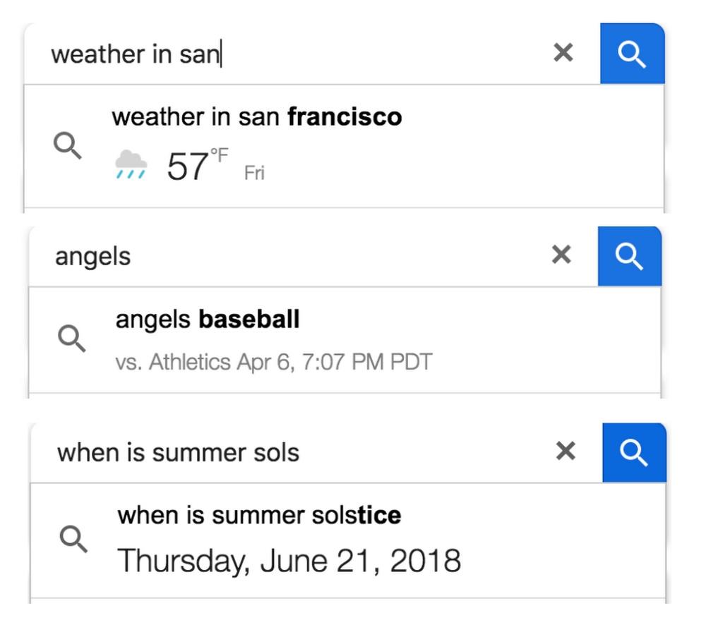 autopreenchimento google