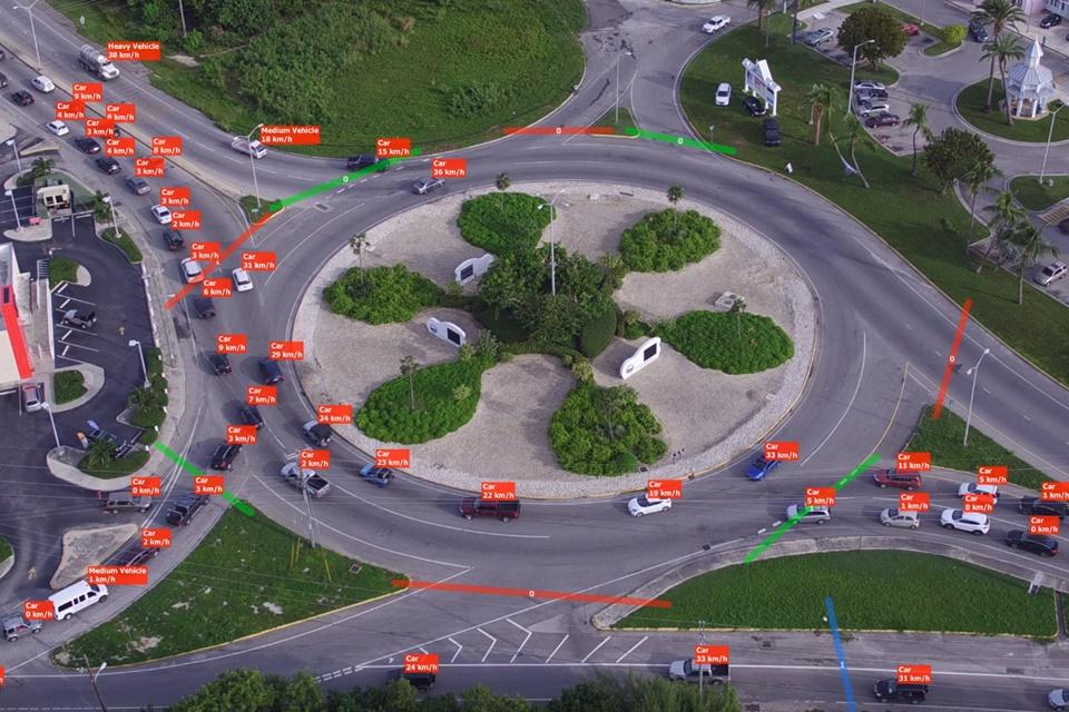 Imagem de Demonstração incrível mostra mapeamento de trânsito feito por drones e IA no tecmundo