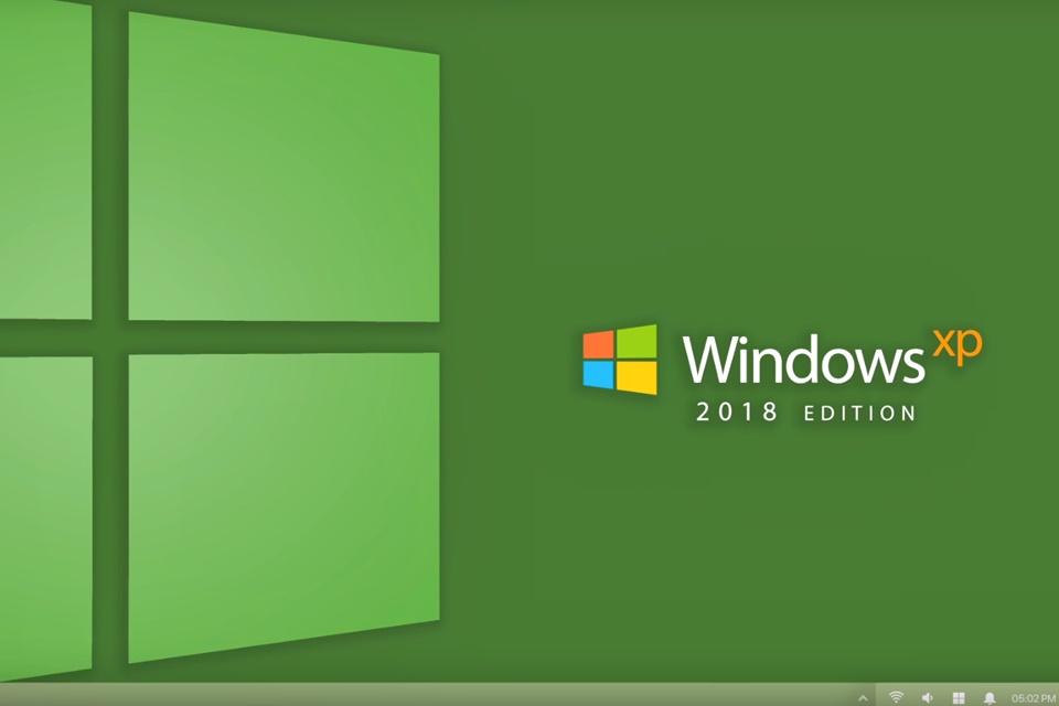 Imagem de Já pensou se o Windows XP tivesse uma versão 2018? Esse designer fez isso no tecmundo