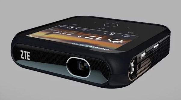 Um projetor.
