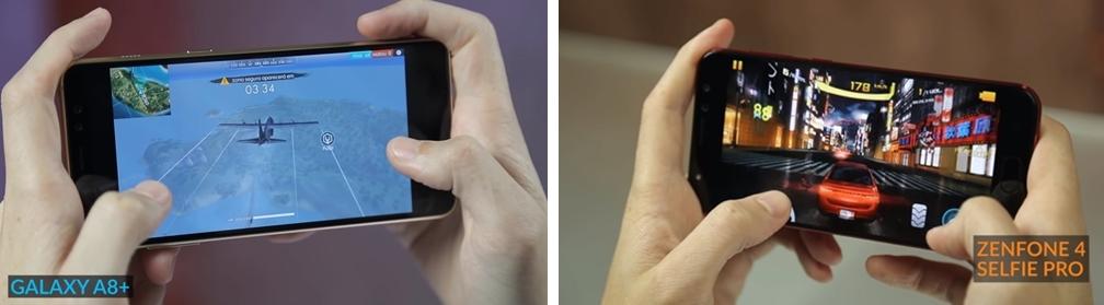 Galaxy A8+ vs Zenfone 4 Selfie