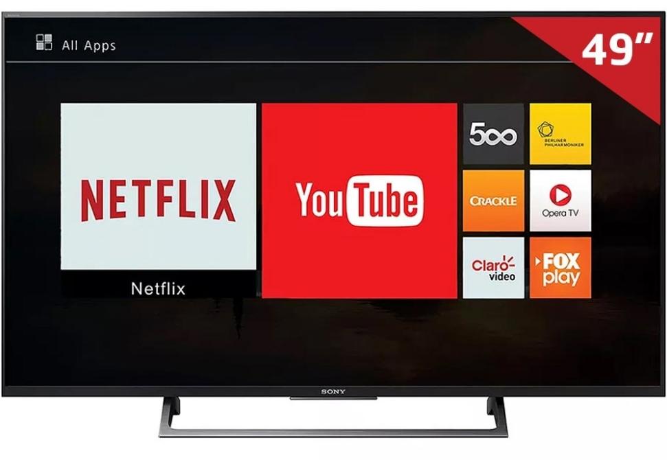 Uma televisão.