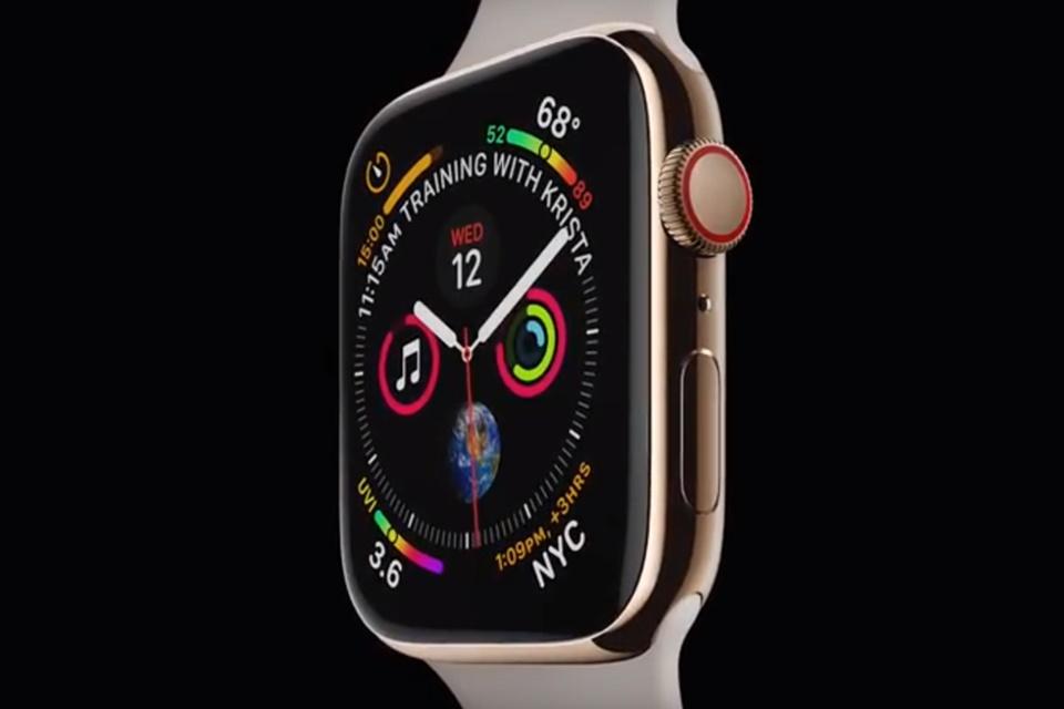 """Imagem de Apple Watch Series 4 chega com """"tela infinita"""" e eletrocardiograma embutido no tecmundo"""