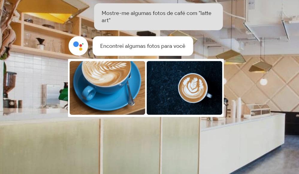 Um café.