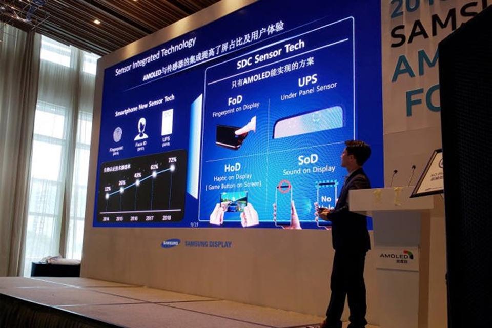 Imagem de Tecnologia de celular com câmera sob a tela foi confirmada pela Samsung no tecmundo