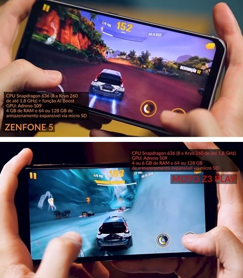 ASUS Zenfone 5 vs Moto Z3 Play