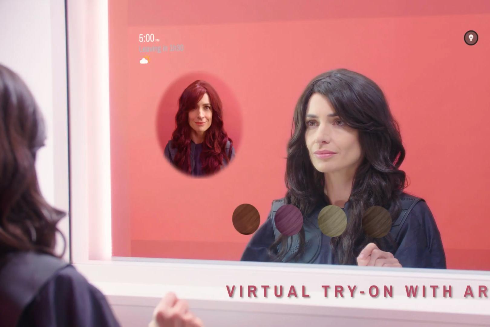 Imagem de Conheça o espelho inteligente que usa AR para você testar novos penteados no tecmundo