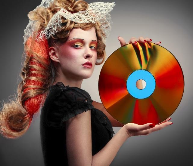 Um disco.