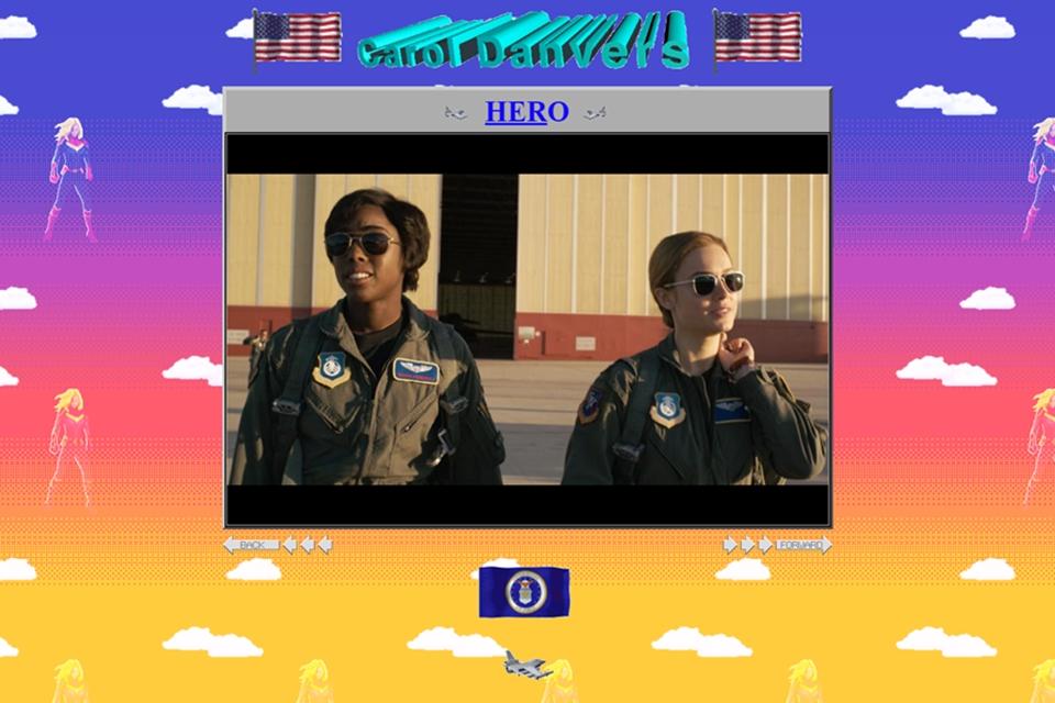 Imagem de Site oficial da Capitão Marvel revista o design retrô dos anos 90 no tecmundo