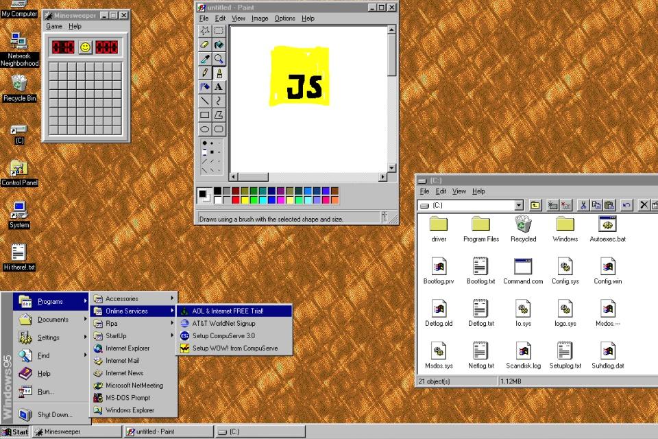 """Imagem de """"Emulador"""" de Windows 95 com Doom e Wolfenstein pode ser baixado de graça no tecmundo"""
