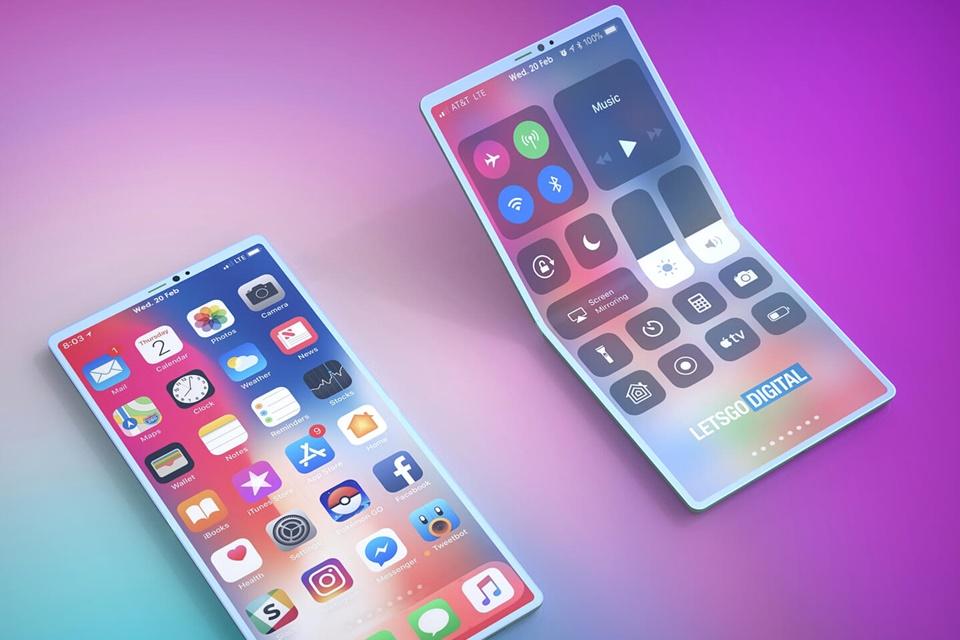 Imagem de Apple tem patente para smartphone que dobra para os dois lados no tecmundo