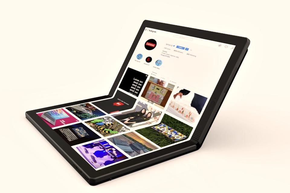 Imagem de Lenovo entra na onda e mostra vídeo do primeiro notebook dobrável do mundo no tecmundo