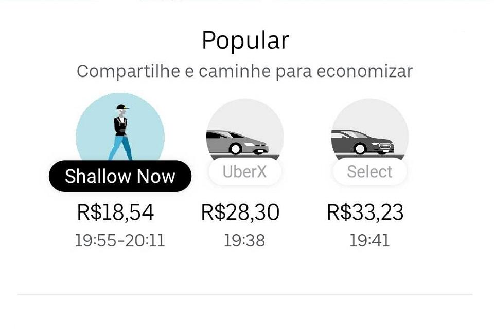 Imagem de Uber troca Juntos por 'Shallow Now'  no aplicativo no tecmundo