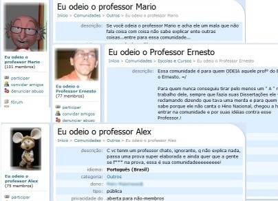 Cyberbullying contra professores no Orkut