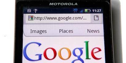 Imagem de TV a cabo mostra preocupação com união Google-Motorola no site TecMundo