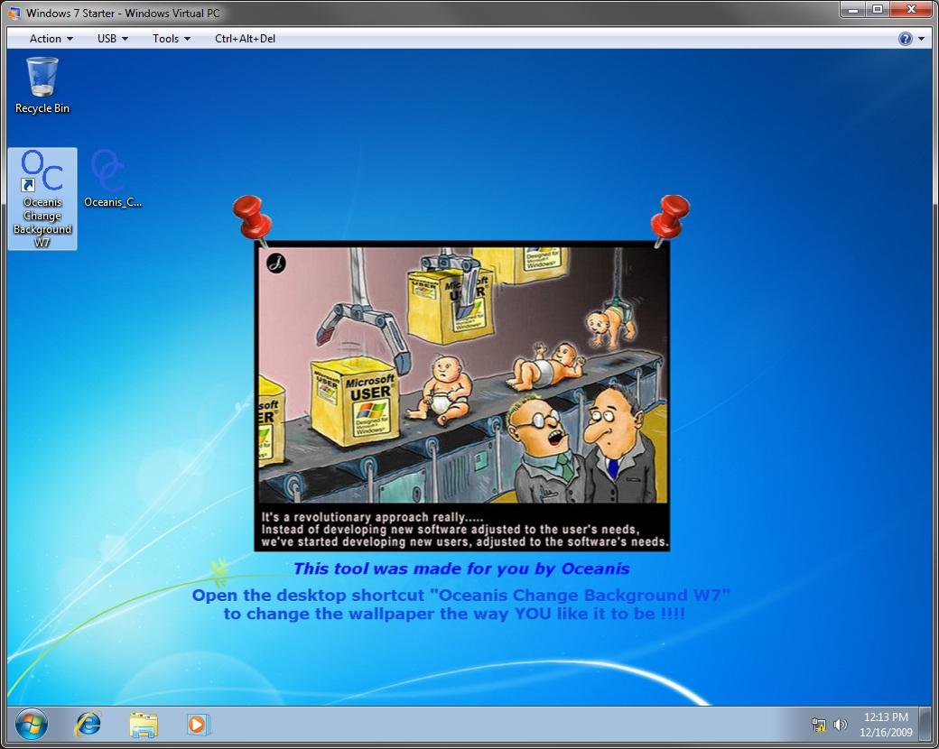 programa para mudar papel de parede windows 7 starter