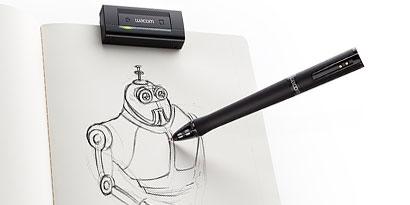 Imagem de Caneta da Wacom transforma desenhos reais em imagens digitais no site TecMundo