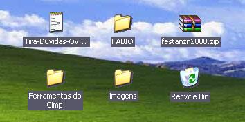Imagem de Fundo colorido ou transparente nos ícones do desktop? no site TecMundo