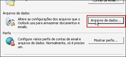 Alterando destino do Outlook